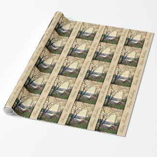 Papel de embalaje del cumpleaños del vitral papel de regalo