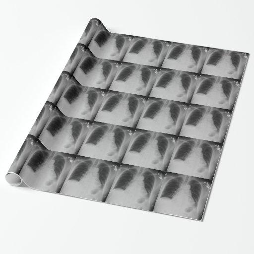 Papel de embalaje del ~ del rayo del pecho X Papel De Regalo