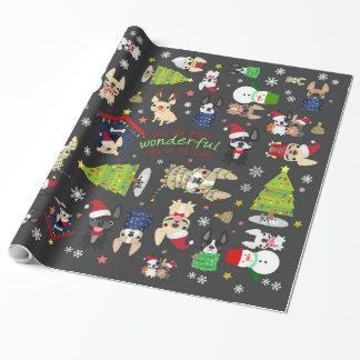 Papel de embalaje del día de fiesta del navidad papel de regalo