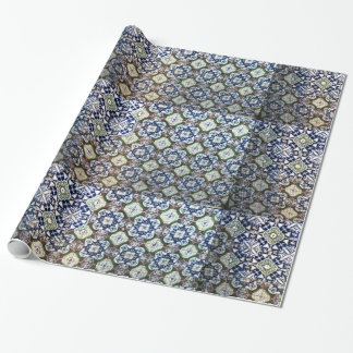 Papel de embalaje del diseño de la teja de papel de regalo
