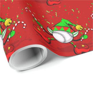 Papel de embalaje del duende del navidad del