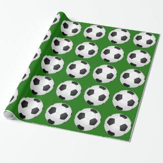 Papel de embalaje del fútbol