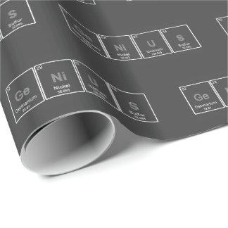 Papel de embalaje del genio de la tabla periódica papel de regalo