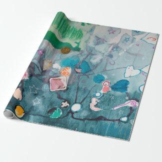 Papel de embalaje del laboratorio del arte de papel de regalo
