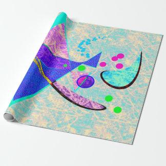 Papel de embalaje del lustre de la foto del arte