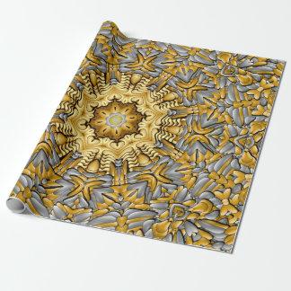 Papel de embalaje del metal precioso papel de regalo