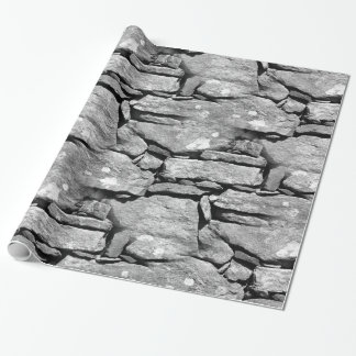 Papel de embalaje del modelo de la roca de la papel de regalo