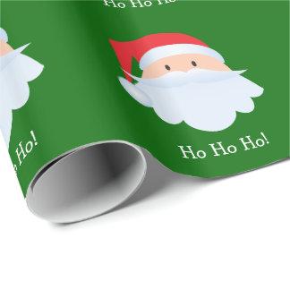 Papel de embalaje del modelo de Papá Noel Ho Ho Ho Papel De Regalo