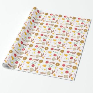 Papel de embalaje del modelo del desayuno papel de regalo
