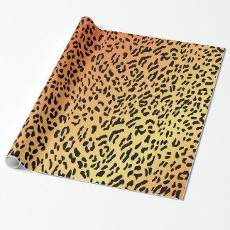 Papel de embalaje del modelo del guepardo papel de regalo