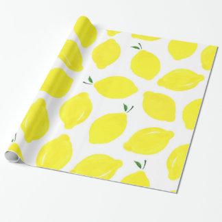 Papel de embalaje del modelo del limón papel de regalo