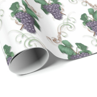 Papel de embalaje del modelo del vino de la uva