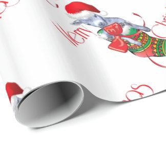 Papel de embalaje del navidad de la cabra del bebé papel de regalo