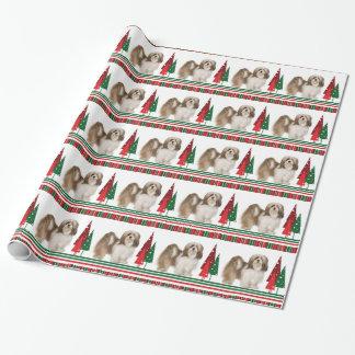 Papel de embalaje del navidad de Lasa Apso