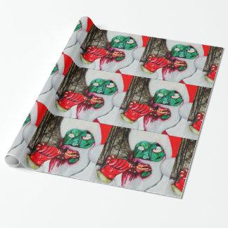 Papel de embalaje del navidad de Santa del zombi Papel De Regalo
