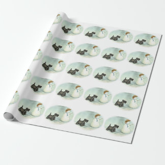 Papel de embalaje del navidad del arte del perro papel de regalo