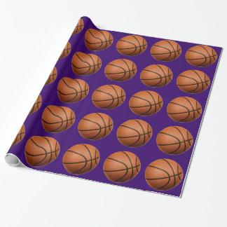 Papel de embalaje del navidad del baloncesto papel de regalo