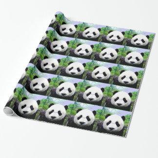 Papel de embalaje del navidad del oso de panda papel de regalo