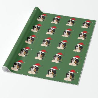 Papel de embalaje del navidad del perro de montaña papel de regalo
