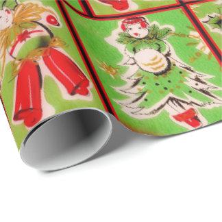 Papel de embalaje del navidad del vintage papel de regalo