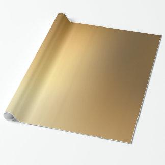 Papel de embalaje del oro de la sombra papel de regalo