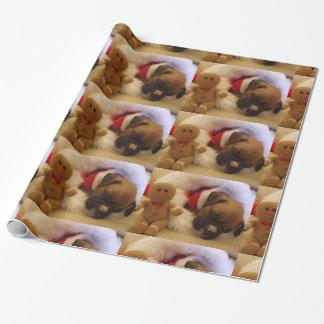 Papel de embalaje del perrito del boxeador el