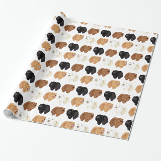 papel de embalaje del perro chino de perro chino papel de regalo