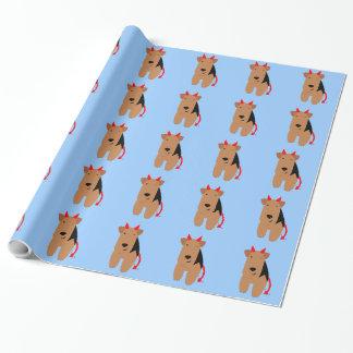 Papel de embalaje del perro de diablo papel de regalo