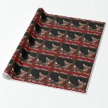 Papel de embalaje del perro de la chihuahua del papel de regalo