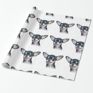 papel de embalaje del perro de la chihuahua