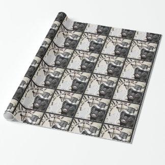 Papel de embalaje del perro del barro amasado del papel de regalo