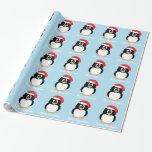 Papel de embalaje del pingüino de las Felices