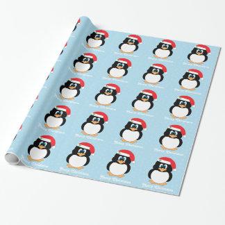 Papel de embalaje del pingüino de las Felices Papel De Regalo