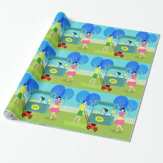 Papel de embalaje del puesto de limonadas de los papel de regalo
