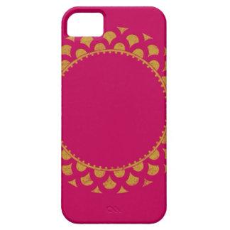 Papel de embalaje del rosa y del oro funda para iPhone SE/5/5s