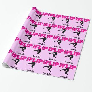 Papel de embalaje del tirón de la gimnasia de papel de regalo