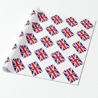 Papel de embalaje del Union Jack con la bandera