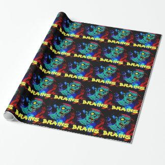 Papel de embalaje del zombi papel de regalo
