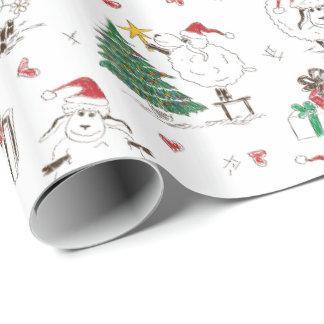 Papel de embalaje divertido de las ovejas del papel de regalo