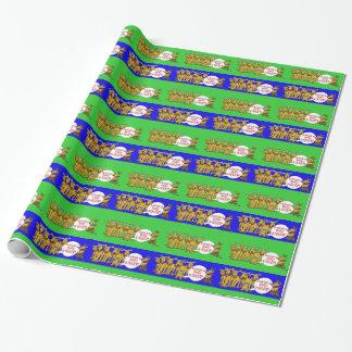 Papel de embalaje divertido del navidad de las papel de regalo
