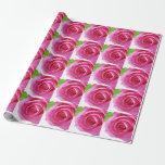 Papel de embalaje elegante color de rosa rosado