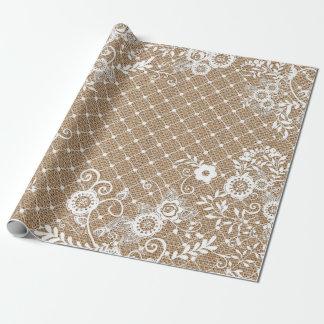 Papel de embalaje elegante lamentable del cordón y papel de regalo