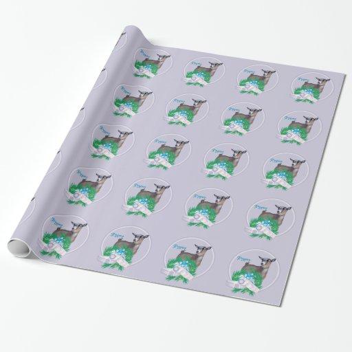 Papel de embalaje enano del navidad de la cabra de papel de regalo