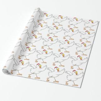 Papel de embalaje feliz del pollo papel de regalo