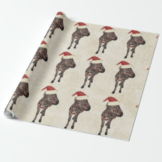 Papel de embalaje festivo de la cebra del vintage papel de regalo