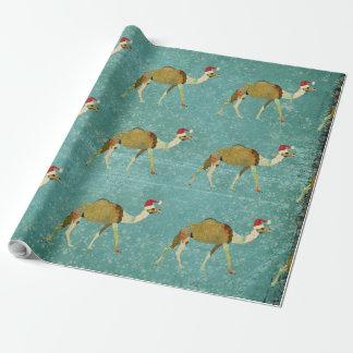 Papel de embalaje festivo de los camellos del papel de regalo