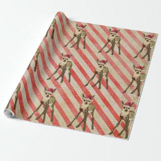 Papel de embalaje festivo del bastón de caramelo papel de regalo