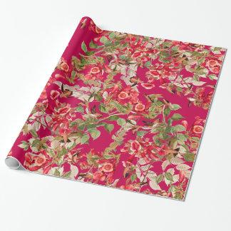 Papel de embalaje floral de las flores del jardín papel de regalo