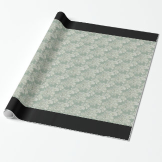 Papel de embalaje floral verde claro de Paisley Papel De Regalo