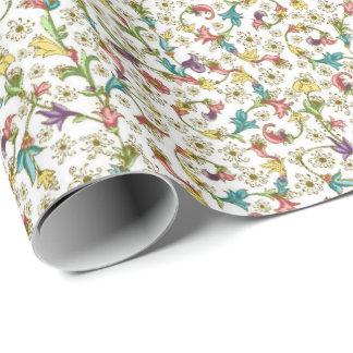 Papel de embalaje florentino del estilo papel de regalo